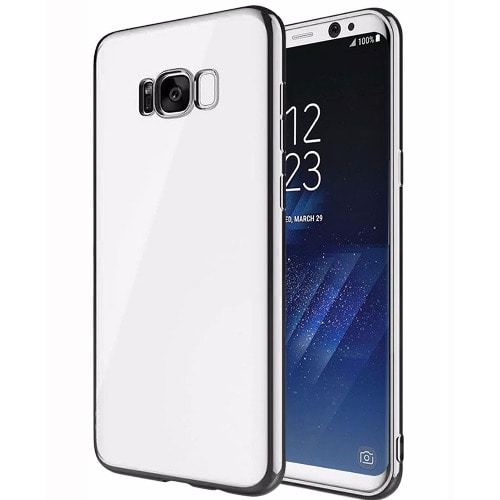 the latest 293d0 6c0f1 Transparent Back Case for Samsung Galaxy S8 - Silver