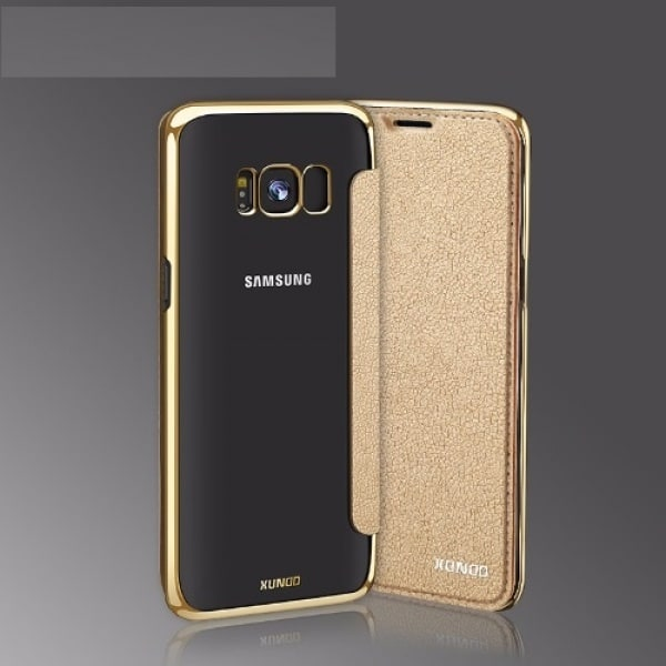 new arrival bfbe3 b8786 Transparent Back Case for Samsung Galaxy S8 Edge - Gold