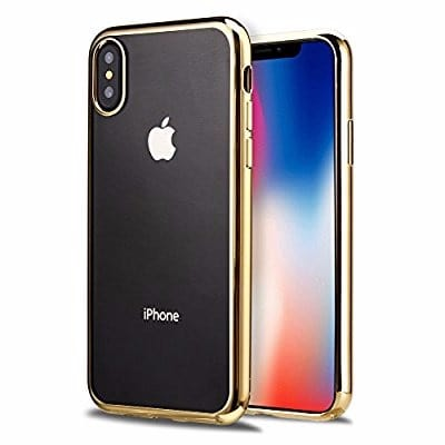 623f287bad Xundd Transparent Protective Back Case for Apple iPhone X - Gold ...