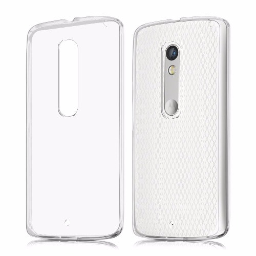 competitive price 4bbd7 bf6bb Transparent TPU Rubber Phone Case for Motorola Moto X Play
