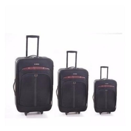 13db3f1ec7 Swiss Polo Travel Trolley Luggage - Set Of 3 - Black