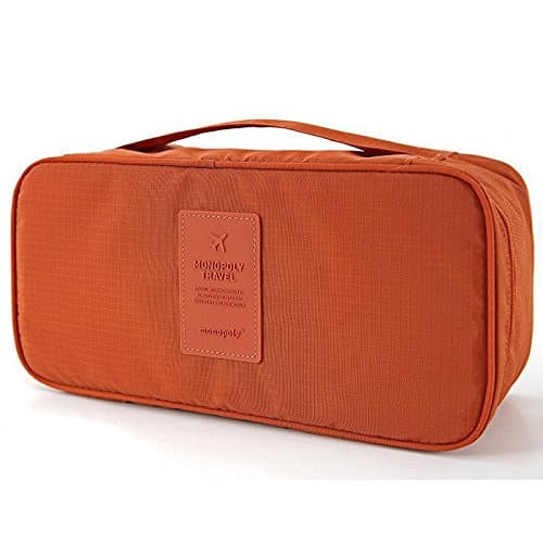 de7e73462942 Travel Underwear Bra Panties Socks Waterproof Portable Storage Box - Orange