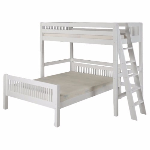 Twin Over Full L Shaped Bunk Bed White Konga Online Shopping
