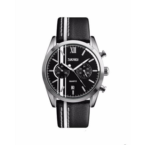 e5e33355f Skmei Two Chronograph With Date Leather Wrist Watch - Black   Konga ...