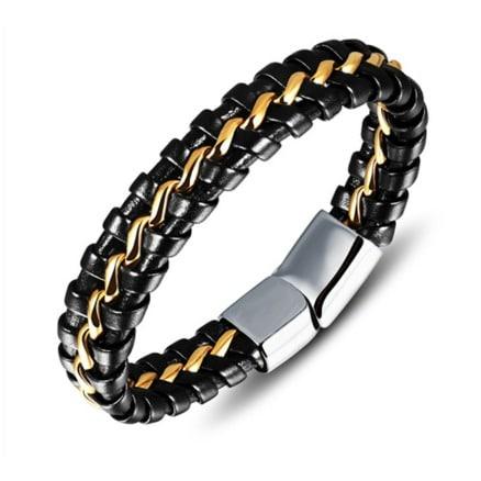 /T/w/Two-Tone-Leather-Bracelet---Gold-Black---20cm-6334301.jpg