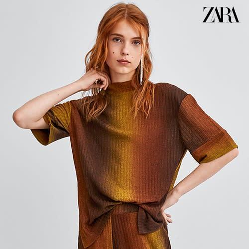 939e9a12442c43 Zara Turtle Neck Blouse - Brownish Gold | Konga Online Shopping