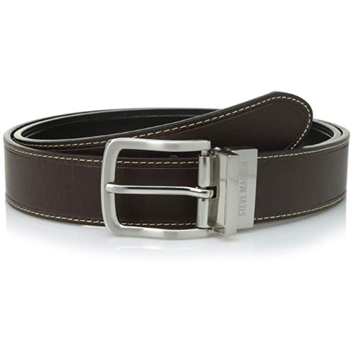 Steve Madden Mens Reversible Dress Belt Black Brown