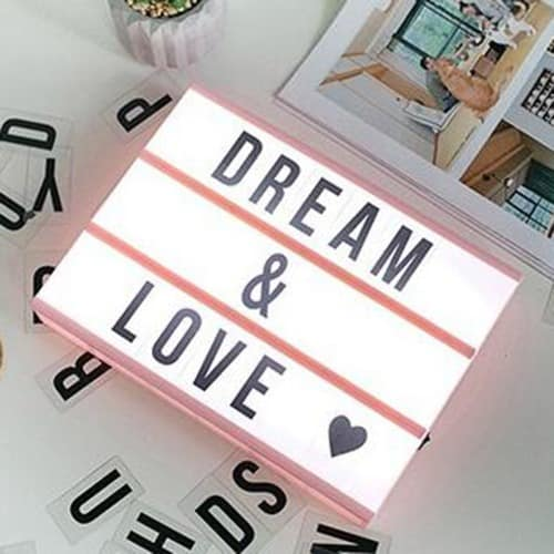 Usb And Battery Powered A4 Cinematic Led Light Box - Pink