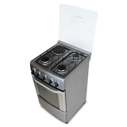 Electric/Gas Cooker Qsg-505e31, 3 Gas + 1 Electric- Silver