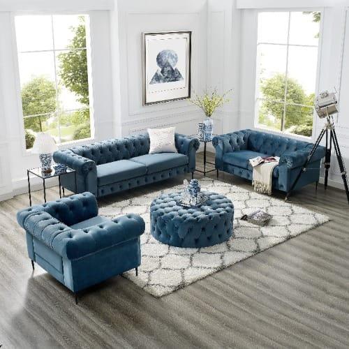 Sensational Havilah Luxury Sofa Set With Free Ottoman Creativecarmelina Interior Chair Design Creativecarmelinacom