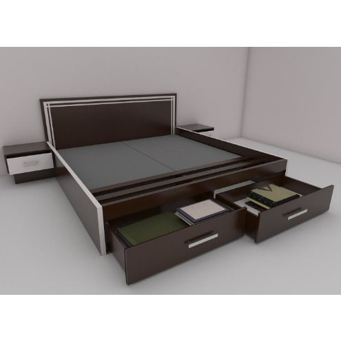 size 40 6b5dd c64e8 Muyimot Iii 6ft X 6ft Bedframe With Storage & Night Stands