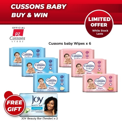 Baby Buy & Win - Wipes Combo + 2 Free Joy Soap.