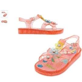 d326d8e97 Wonder Nation Toddler Girls' Polka Double Bow Jelly Sandal- Pink ...