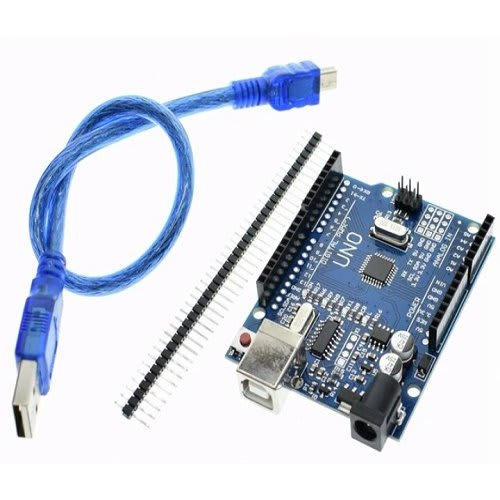 Arduino Uno + Usb Cable + Header Pins