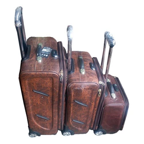 Leather Pilot Suitcase- 3 Piece Set