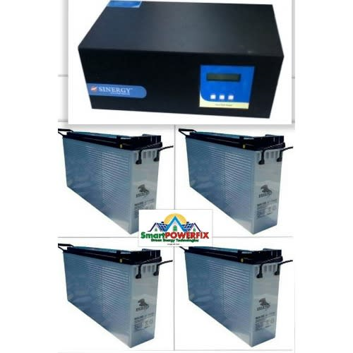 2.5kva Inverter With 4 American Standard Slim Batteries