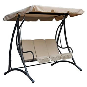 Swell Bentley Garden 3 Seater Premium Outdoor Swing Seat Bench Chair With Beige Canopy Camellatalisay Diy Chair Ideas Camellatalisaycom
