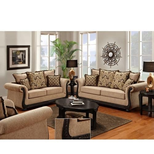 Victorianne Glow 6 Seater Sofa Set with Free Throw Pillows  d11f2601e
