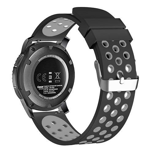 Wrist Watch Band Strap For Samsung Gear S3 Frontier - Black