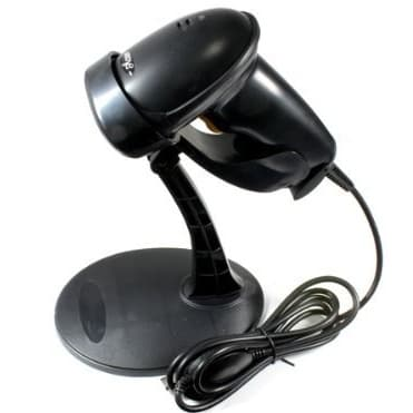 USB Automatic Barcode Scanner With Handsfree Stand - Black