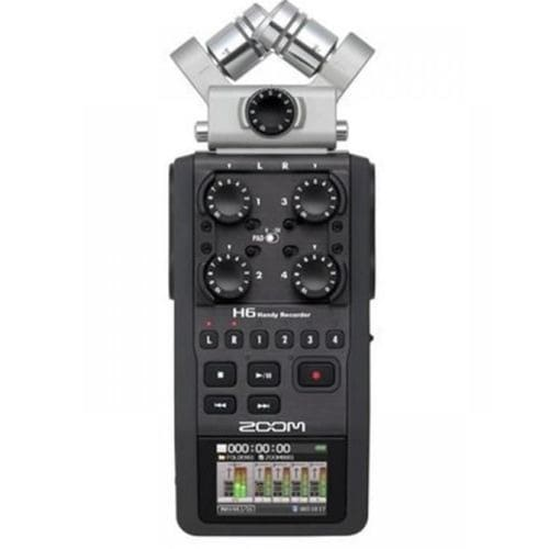 H6 Six Track Handy Recorder With Interchangeable Microphone