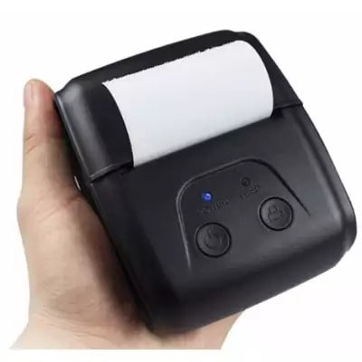 Mini Mobile Thermal Printer - Black