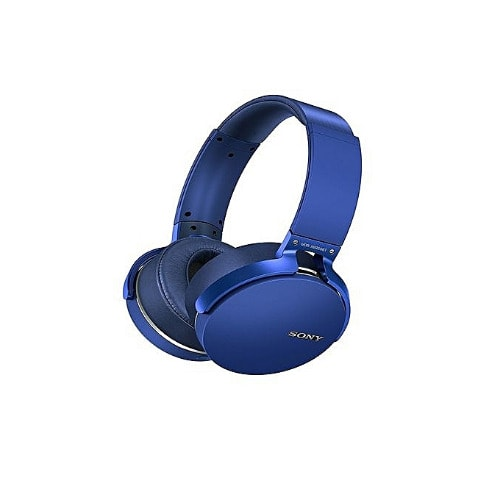 Extra Bass Smooth Sound Bluetooth Headset- Blue
