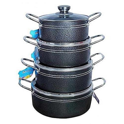 Set Of 4 Non-stick Aluminium Pots