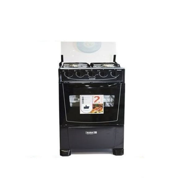 Scanfrost Gas Cooker 4 Burners Black-ck5400ng.