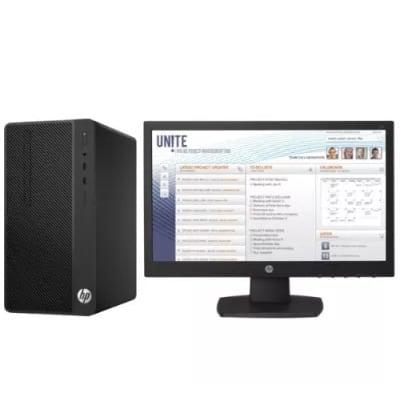 """290 G2 Microtower Pc - Intel Pentium - 4gb Ram - 500gb Hdd Freedos + 18.5"""" Monitor (3va94ea)"""
