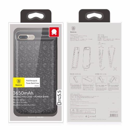 best website 62553 e1033 Ultra Slim Battery Backup Case for Apple iPhone 7 Plus - Black