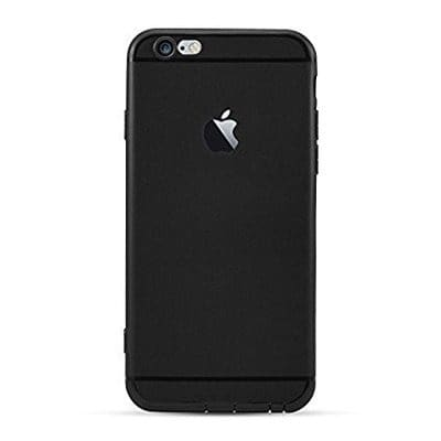 quality design d3887 46e1b Ultra Slim Soft Silicon Logo Cut Back Cover for Apple iPhone 6 Plus & 6s  Plus -Black