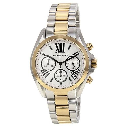909e8b9f5dc4 Michael Kors Unisex Bradshaw Chronograph Two Tone Watch