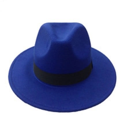 845ee34b23b8b Unisex Fedora Hat - Royal Blue