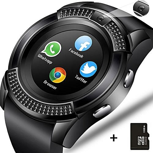 V8 Smart Watch For Android And iOS + 8GB Memory Card