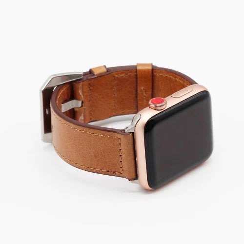 Leather Watch Strap 38mm For Apple Watch - Light Brown