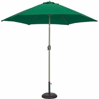 Jackson Outdoor Garden Parasol Centre - Pole Umbrella - Green