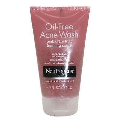 Oil Free Acne Wash Foaming Scrub, Pink Grapefruit 124ml.