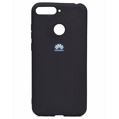 new product 5d295 79e08 Huawei Y6 Prime 2018 Silicon Cover - Black