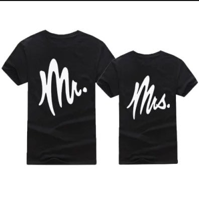59c33ac0 Mr & Mrs Couple T-Shirt - Black | Konga Online Shopping