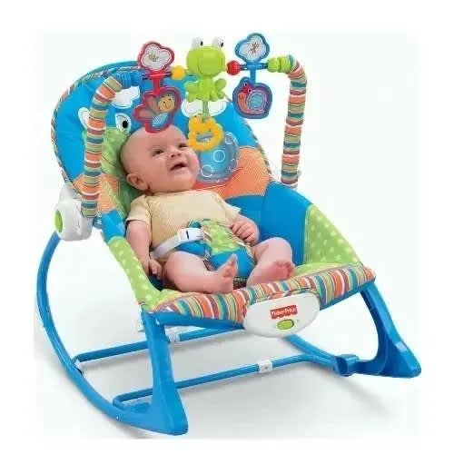 Baby Infant Rocker With Bouncer Blue