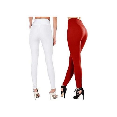 328e71acc3e48 Fashion By LV 2 In 1 Thick High Waist Leggings - White & Red | Konga ...
