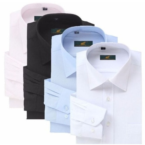 Men's Shirts - 4 In 1 - Pink, Black, Sky Blue & White