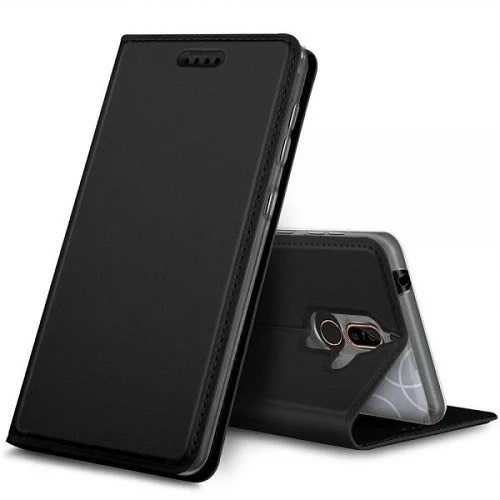 online retailer 6dc4c a5be9 Leather Flip Case For Nokia 6.1 Plus- Black