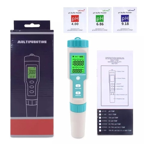 7 In 1 Ph TDS EC Salinity SG ORP Water Quality Tester Meter