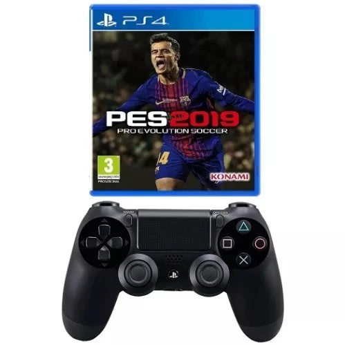 Playstation 4 Pro Evolution Soccer 2019 Game- Pes 19 + Ps4 Pad - Dualshock 4 Wireless