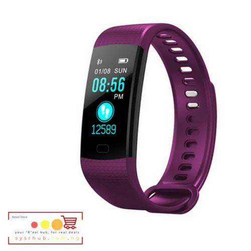 Y5 Smart Wristband Fitness Tracker - Purple