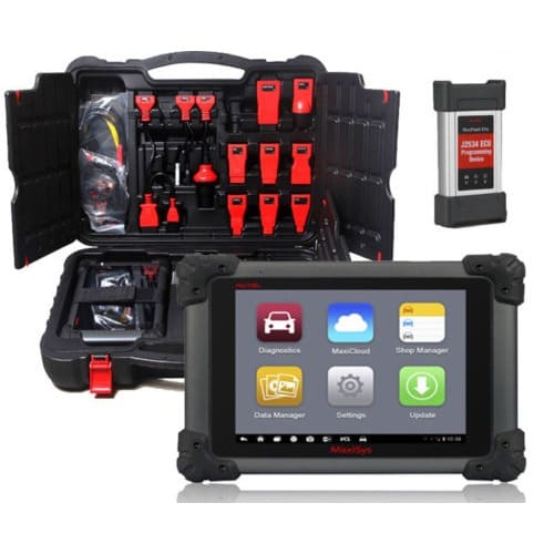 Maxisys Pro Professional Automobile Diagnostic Scanner With J2534 ECU Key  Coding Functions