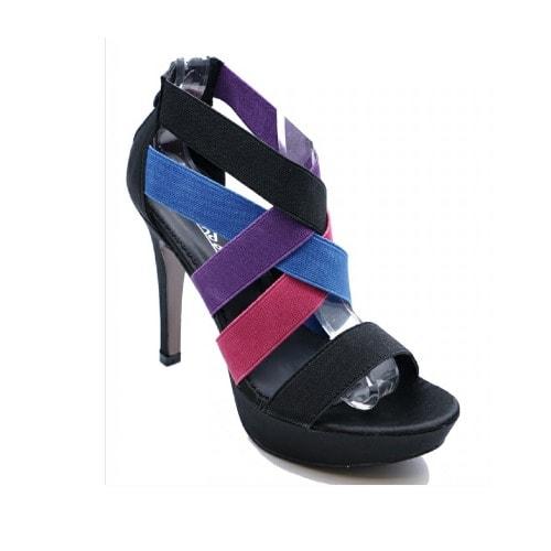 e9f5e333739 Ladies Black Strappy High Heel Sandals - Multicolour