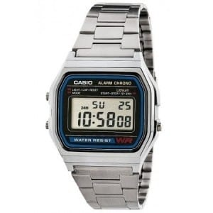 brand new ae2d9 02acb Vintage A158WA-1 Digital Stainless Steel Watch